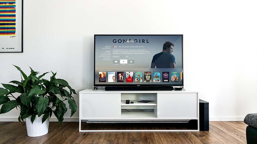 Plateforme de VOD sur un TV - Lifestyle