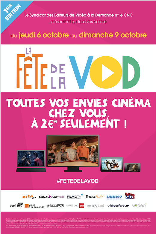 La fête de la VOD - Affiche (Sources : CNC)