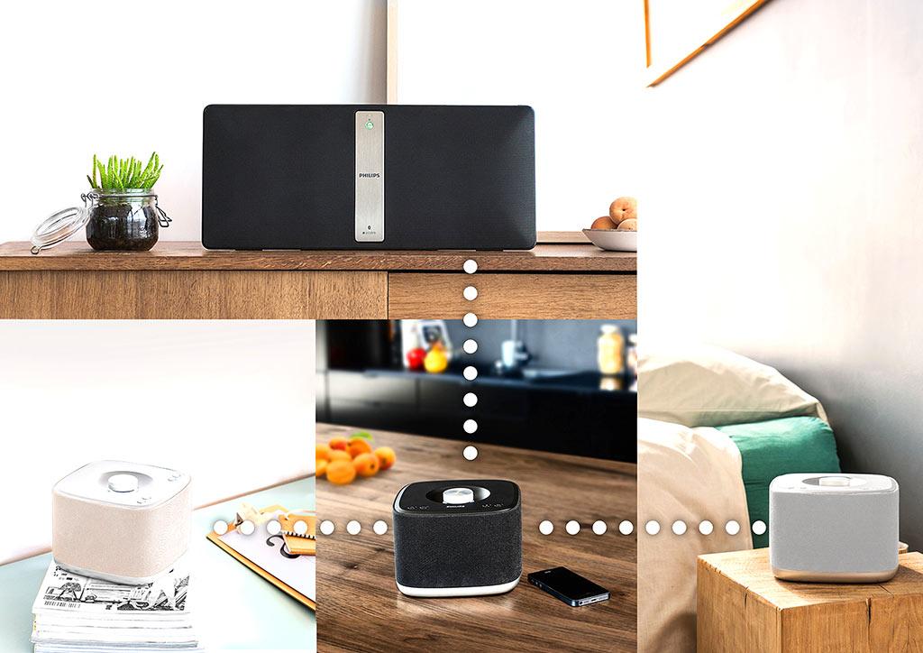 Enceinte sans fil avec lecteur CD Philips Izzy BM50 - IFA 2016