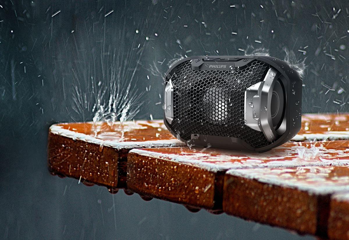 Enceinte sans fil portable Waterproof IPX7 - Philips Shoqbox - IFA 2016