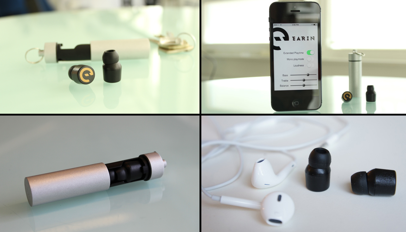 Prototype Kickstarter - Casque intra Earin, cordless, wireless 2014)