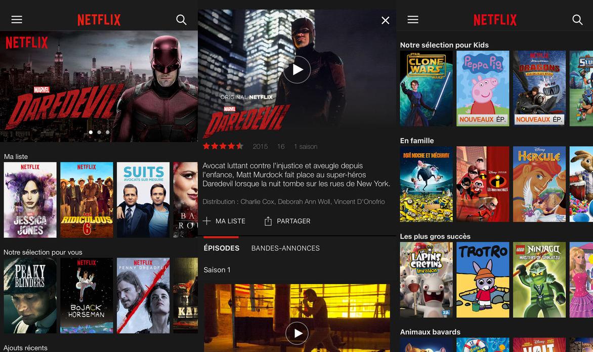 Netflix - Application mobile iOS