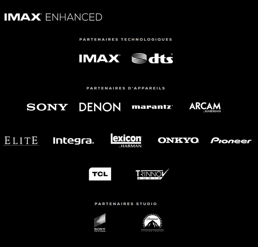 Liste des premiers partenaires de la nouvelle certification home cinéma IMAX Enhanced.