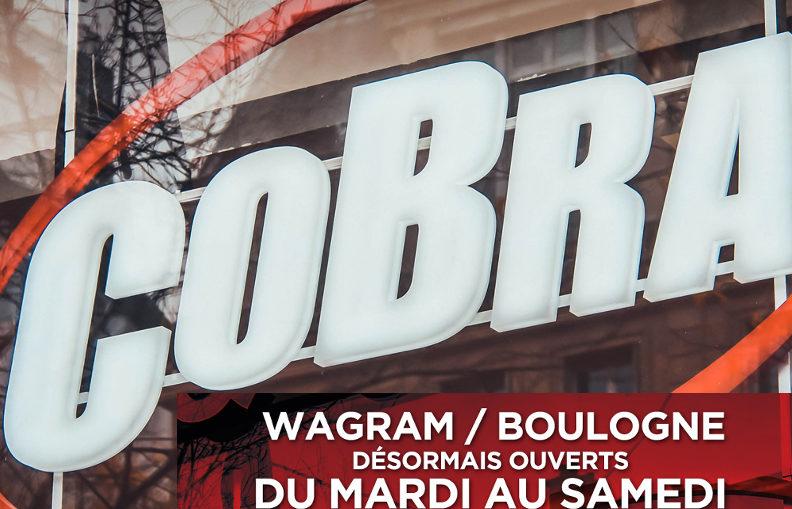 Horaires 2019 des magasins Cobra