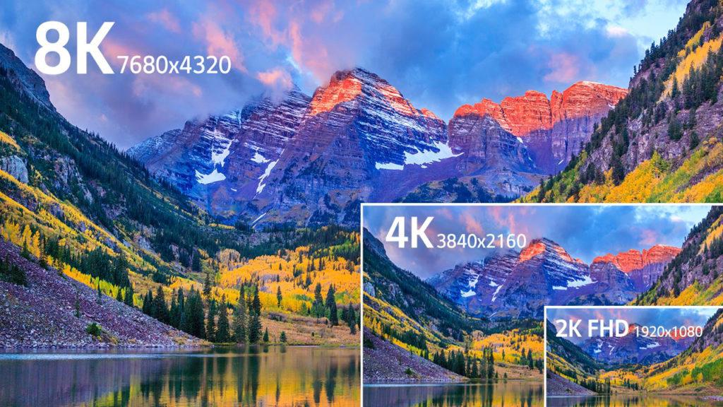 Un téléviseur 8K peut afficher une définition de 7680 x 4320 pixels !