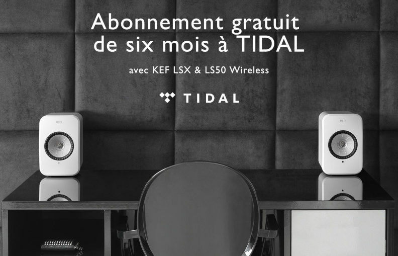 Abonnement gratuit de six mois à Tidal avec KEF