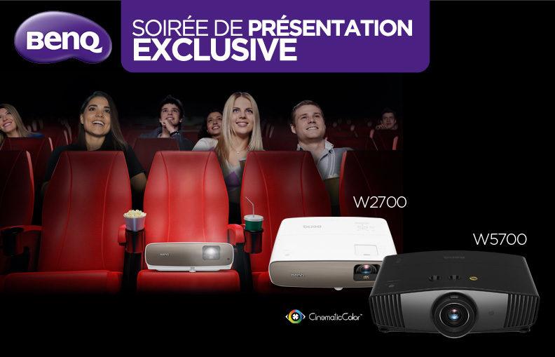 Participez à notre soirée événement pour découvrir en avant-première les nouveaux vidéoprojecteurs DLP 4K W5700 et W2700