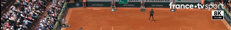 Roland Garros en 8K sur le RGLab