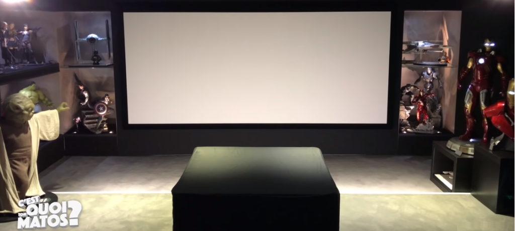 La salle home-cinéma de Phil