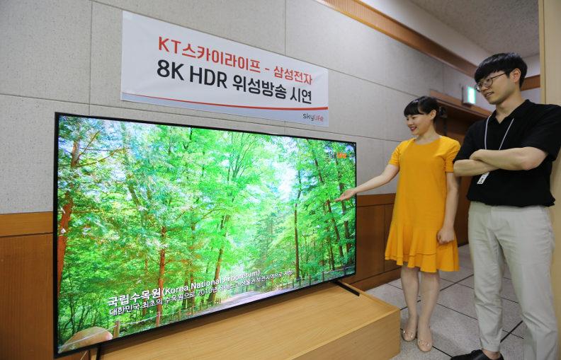 Samsung et Skylife démontrent qu'il est possible de diffuser un flux 8K HDR par voie aérienne