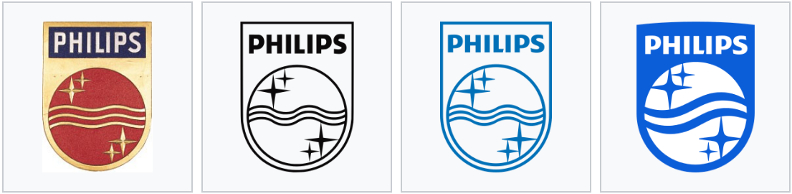 Evolution du logo Philips