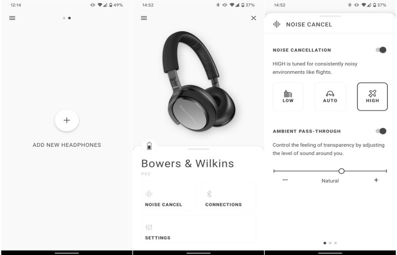 Mise à jour pour l'application Bowers & Wilkins Headphone