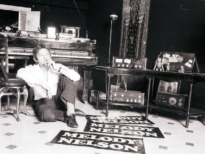 Serge, ici photographié pour la sortie de l'album Melody Nelson (Photo par Patrick Bertrand)