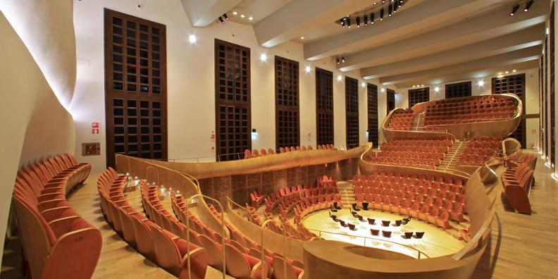 L'auditorium dans lequel les violons Stradivarius ont été enregistrés par Audiozone