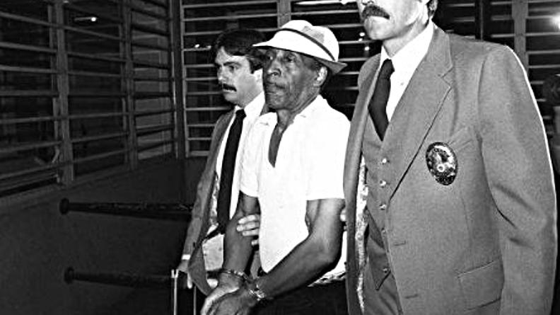 Marvin Gay Sr. photographié par McLendon le jour de son arrestation en 1984