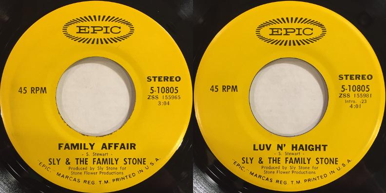 Le 45 tours de Family Affair est sorti en 1971