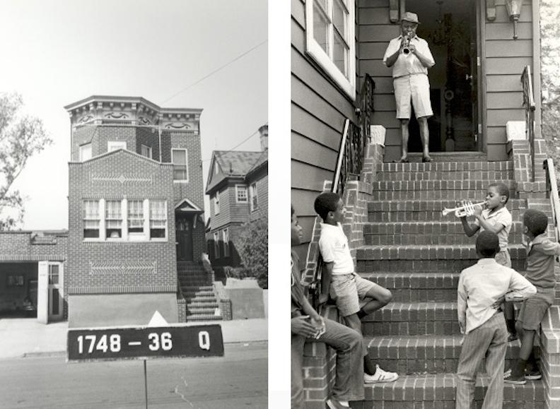 Deux photos de la maison de Satchmo, en 1939 et 1965 (Archives municipales de New-York, Armstrong Archives/CUNY)