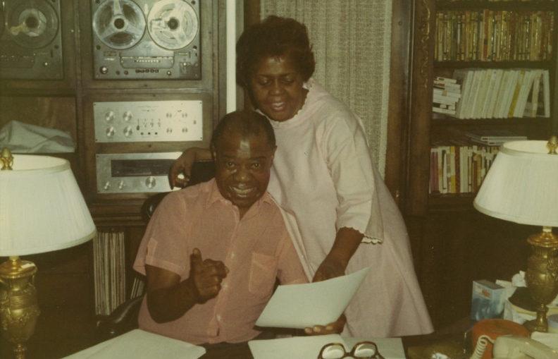 Le système Hi-Fi de Louis Armstrong (Photo : Louisiana State Museum, 2 février 1970, référence 1978.118(B).00387.1)