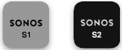 Applications Sonos S1 et S2