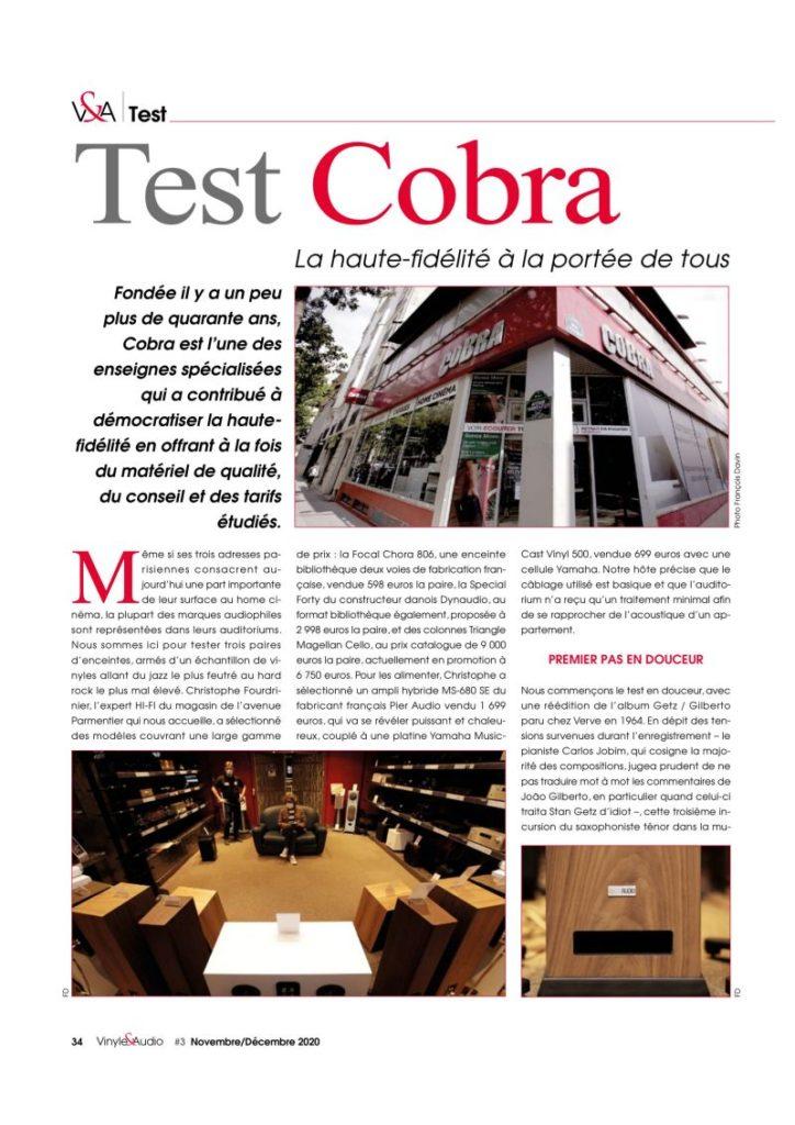 Vinyle & Audio se sont rendus dans notre magasin de Cobra Paris 11 pour tester 3 paires d'enceintes
