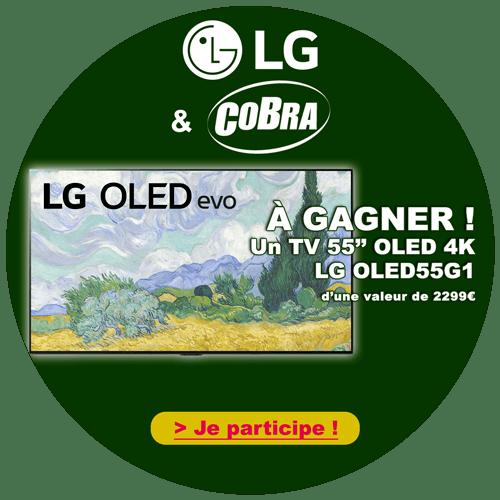 Macaron Jeu LG x Cobra.fr – LG OLED55G1