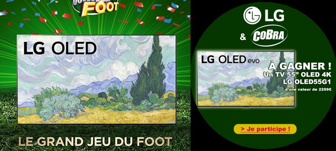Bannière Jeu LG x Cobra.fr – LG OLED55G1