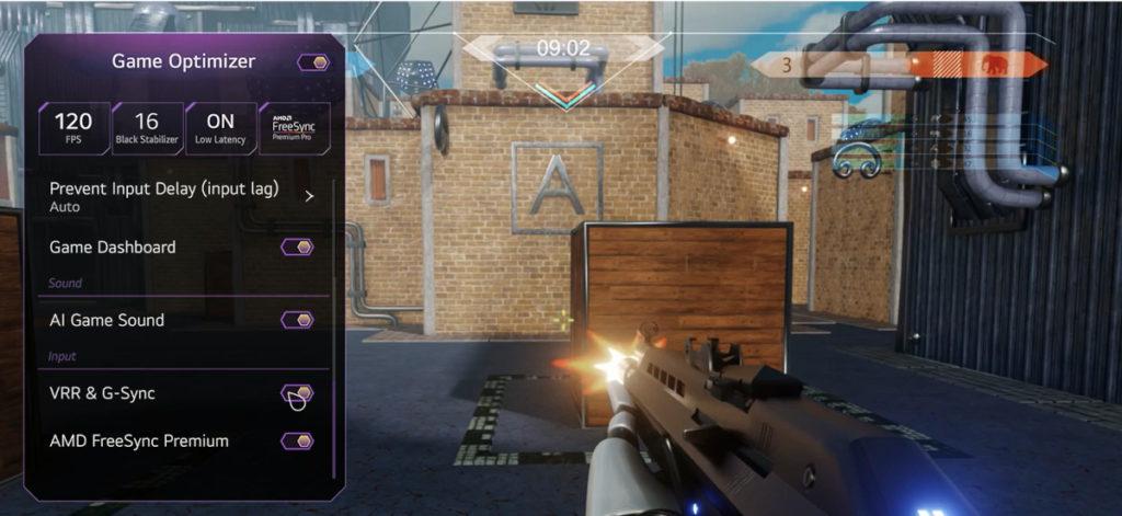 Les derniers TV OLED 4K LG embarquent un mode Game Optimizer.